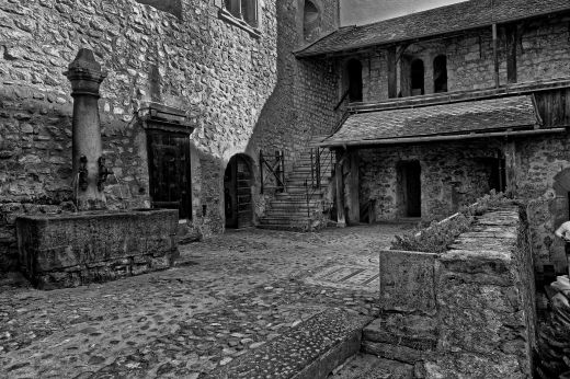 Innenhof Schloss Chillon